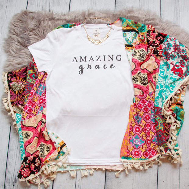 Amazing Grace Ladies Short Sleeve Shirt