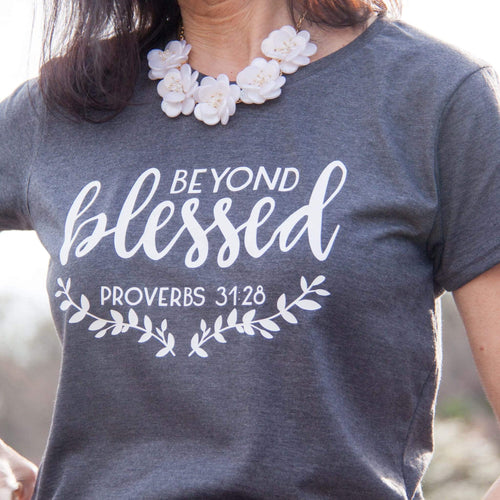 Beyond Blessed Short Sleeve Shirt-ellyandgrace