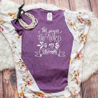 The Joy of the Lord is my Strength Ladies Short Sleeve Shirt