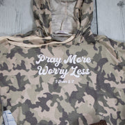 Pray More Worry Less Premium Camo Hoodie