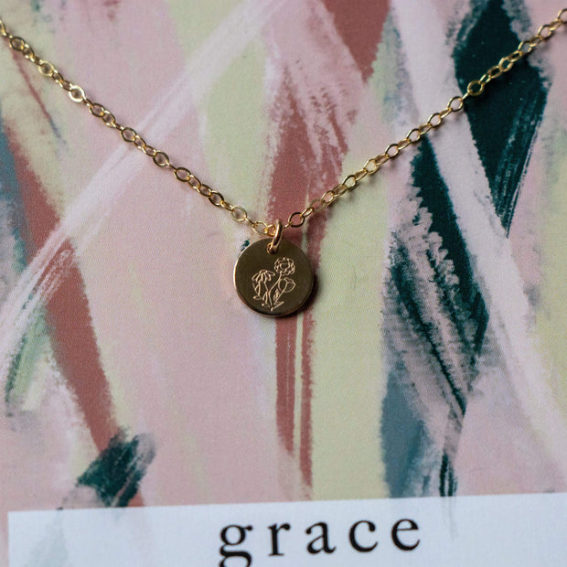 LIMITED EDITION - GRACE (Flower) Round Necklace