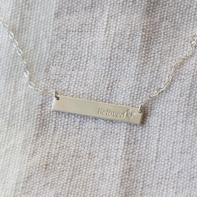 LIMITED EDITION - BELOVED Bar Necklace