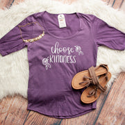 Choose Kindness Half Sleeve Scoop Neck