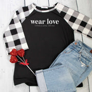 Wear Love Premium Plaid Raglan