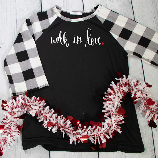Walk in Love Premium Plaid Raglan