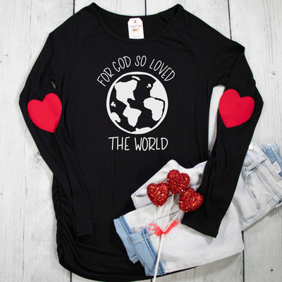 For God So Loved the World Premium Heart Longsleeve Shirt
