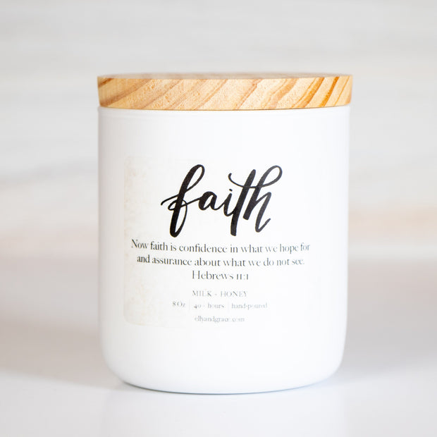 FAITH Hand-Poured Glass Soy Candle