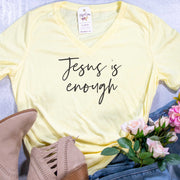 Jesus is Enough Ladies V-Neck