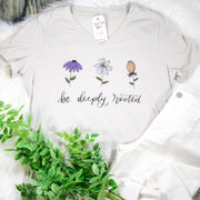 Be Deeply Rooted Ladies V-Neck