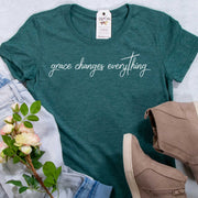 Grace Changes Everything Ladies Short Sleeve Shirt