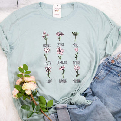Floral Women of the Bible Unisex Shirt