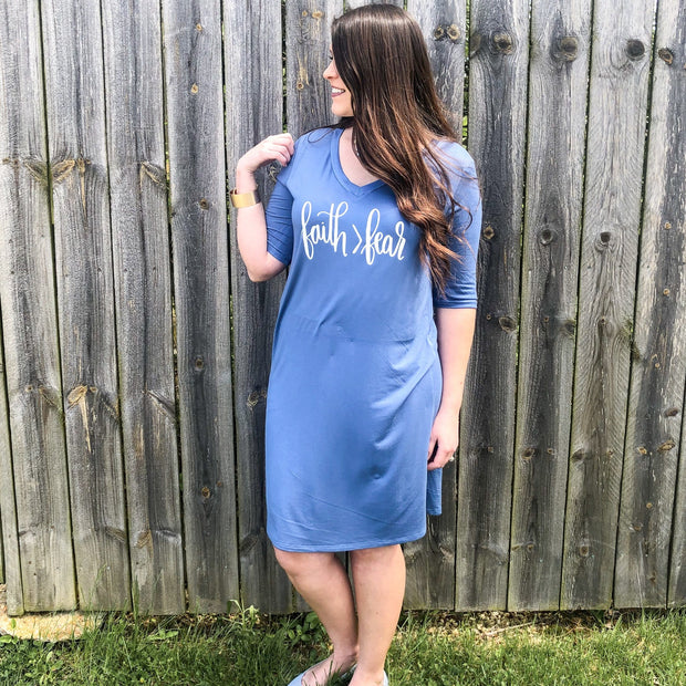 Faith > Fear T-Shirt Dress