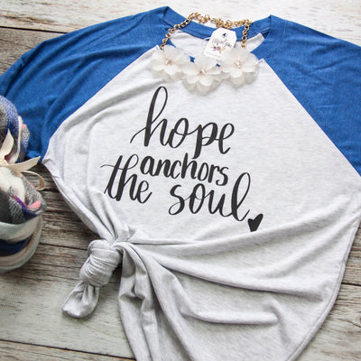 Hope Anchors the Soul Baseball Tee-ellyandgrace