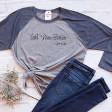 Don't Throw Stones Baseball Tee-ellyandgrace