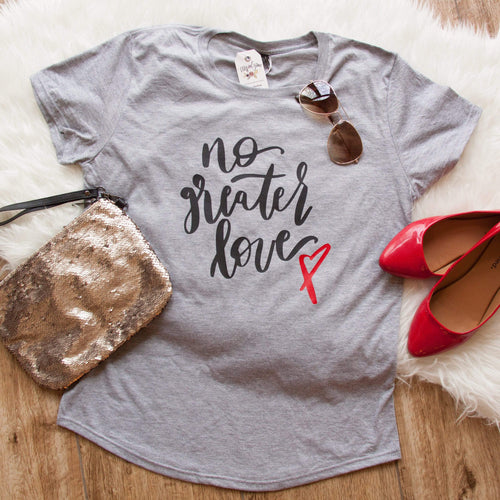 No Greater Love Triblend Short Sleeve Shirt-ellyandgrace