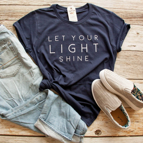 Let Your Light Shine Short Sleeve Shirt - Christian shirt for women