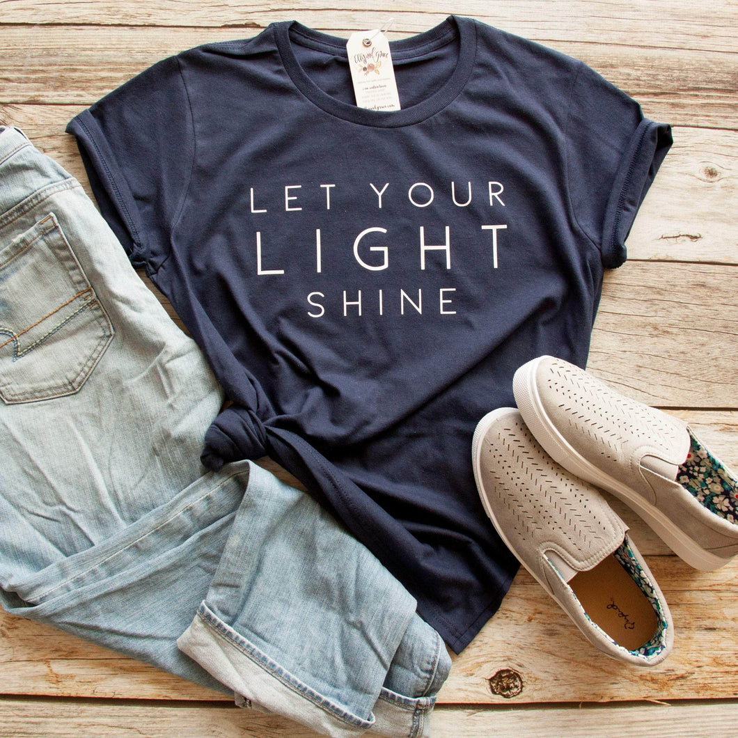 Let Your Light Shine Short Sleeve Shirt-ellyandgrace