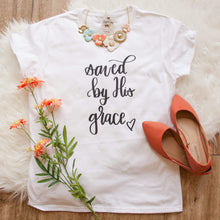 Saved by His Grace Short Sleeve Shirt-ellyandgrace
