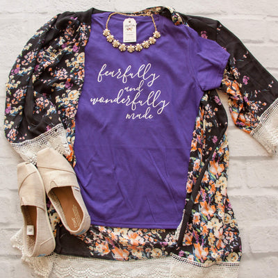 Fearfully and Wonderfully Made Short Sleeve Shirt-ellyandgrace
