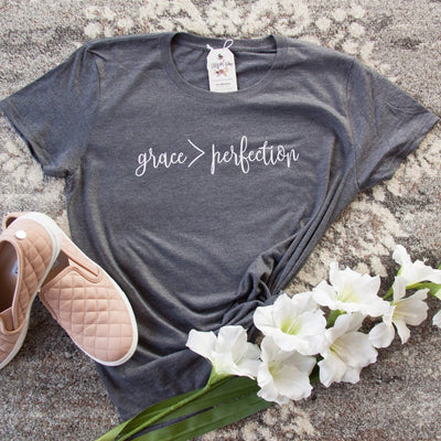 Grace > Perfection Triblend Shirt-ellyandgrace