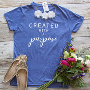 Created with a Purpose Short Sleeve Shirt-ellyandgrace