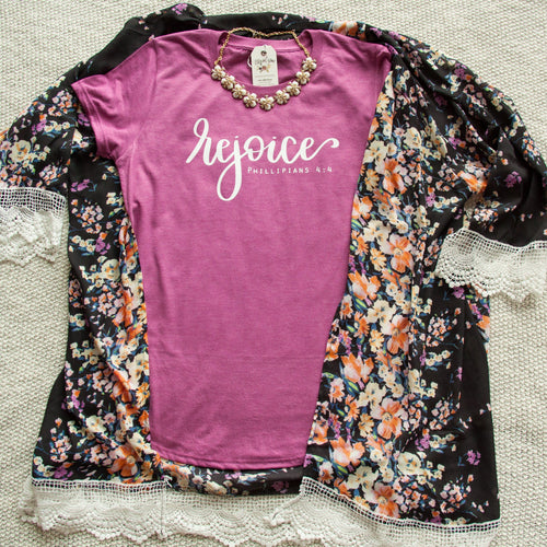 Rejoice Triblend Short Sleeve Shirt-ellyandgrace