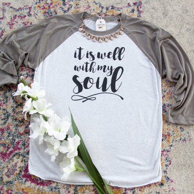 69d39cc39 It Is Well With My Soul Baseball Shirt-ellyandgrace