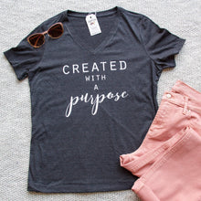 Created with a Purpose Relaxed Ladies Vneck-ellyandgrace