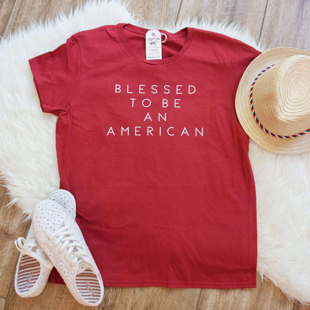 Blessed to be An American Short Sleeve Shirt-ellyandgrace