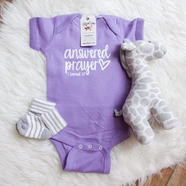 Answered Prayer Infant Bodysuit-ellyandgrace