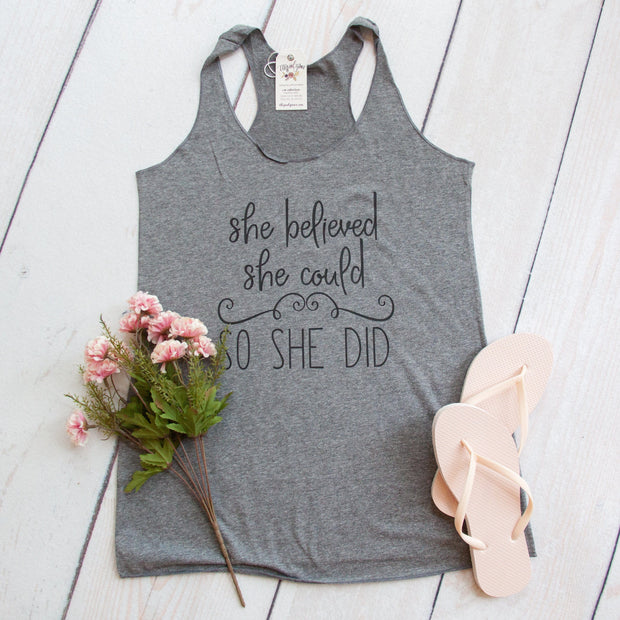 She Believed She Could So She Did Christian Inspirational Tank-ellyandgrace