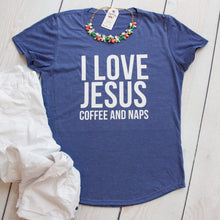Jesus Coffee and Naps Triblend Christian Tee Shirt-ellyandgrace