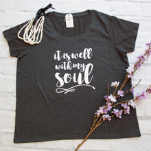It is Well with my Soul Curvy Tee - Christian shirt for women