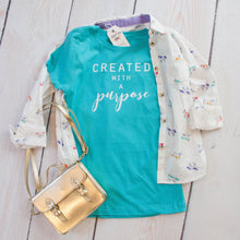 Created with a Purpose Girls Shirt - Christian shirt for women