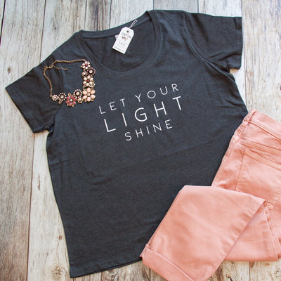 Let Your Light Shine Curvy Tee-ellyandgrace