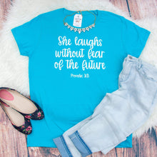She Laughs without Fear of the Future Triblend Shirt