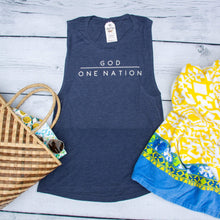 One Nation Under God Ladies Muscle Tank
