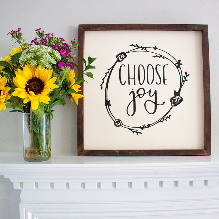 Choose Joy Handmade Sign