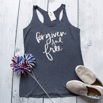 Forgiven and Free Ladies Racerback Tank