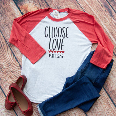Choose Love Baseball Shirt-ellyandgrace