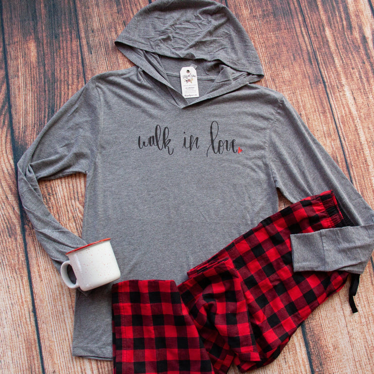 Walk in Love T-Shirt Hoodie-ellyandgrace