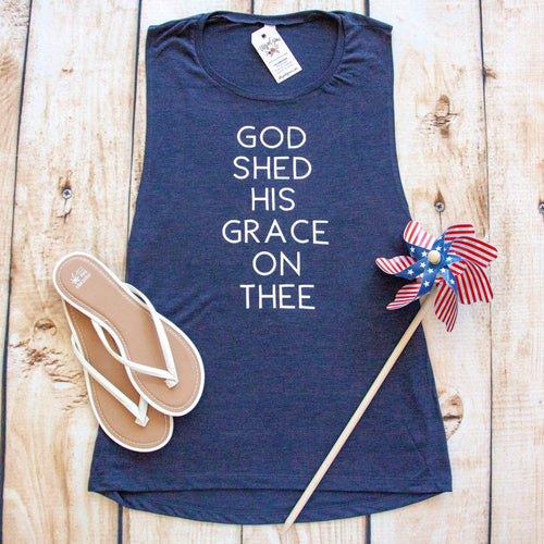 God Shed His Grace On Thee Ladies Muscle Tank
