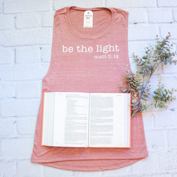Be The Light Ladies Muscle Tank