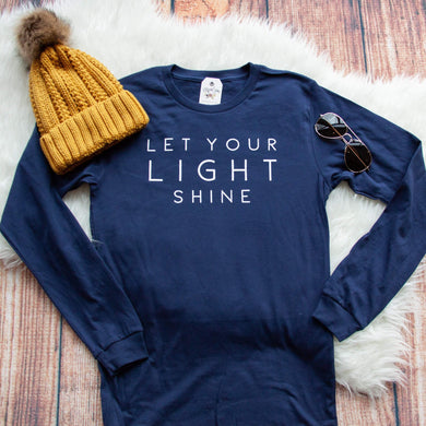 Let Your Light Shine Crew Longsleeve-ellyandgrace