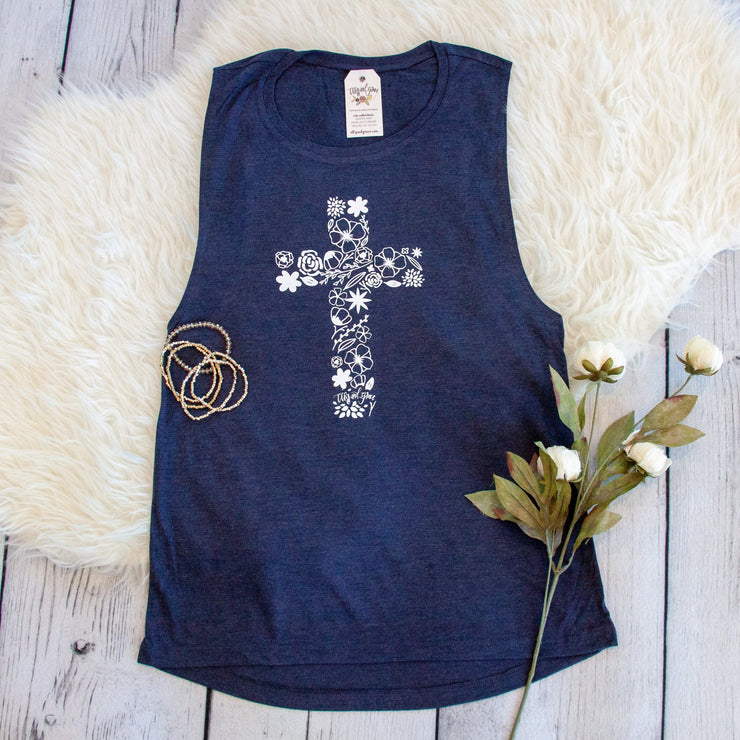 Blooming Cross Muscle Tank
