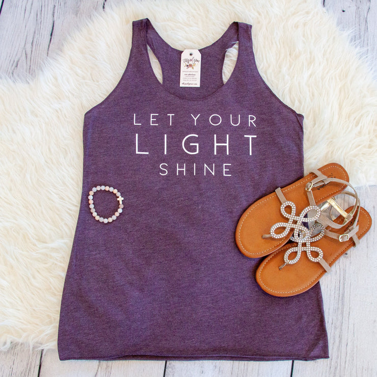 Let Your Light Shine Racerback Tank