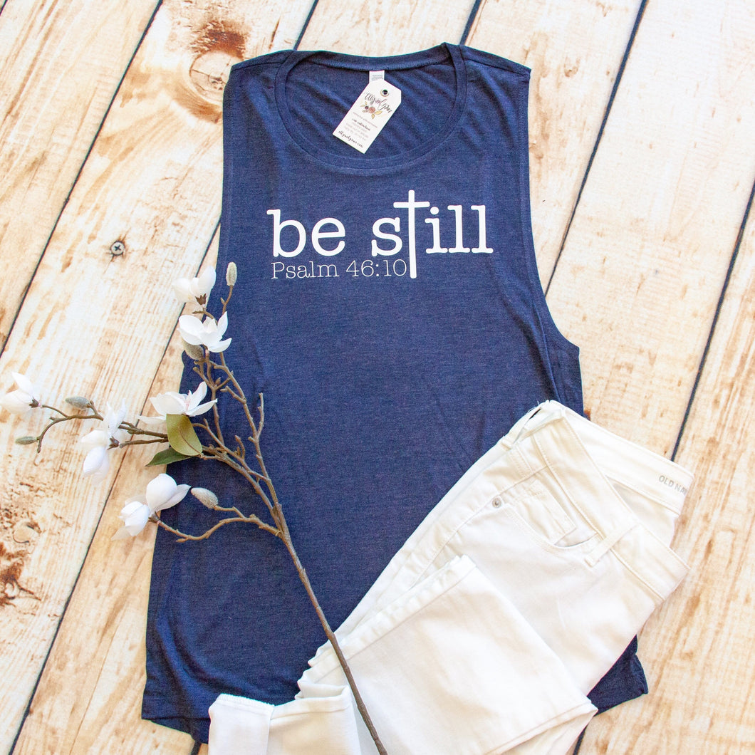 Be Still Cross Muscle Tank
