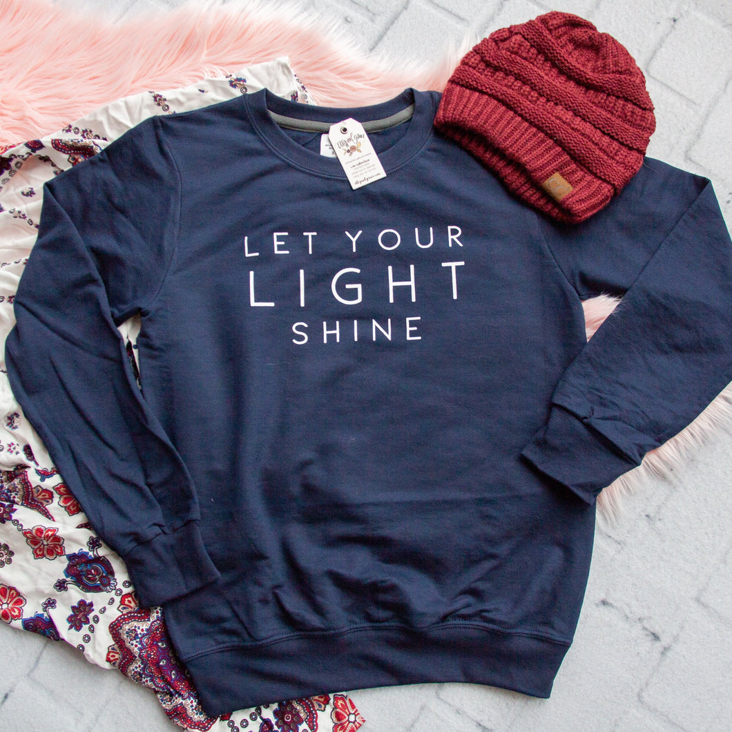 Let Your Light Shine Sweatshirt-ellyandgrace