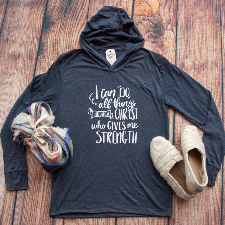I Can do all things through Christ Philippians 4:13 T-Shirt Hoodie-ellyandgrace