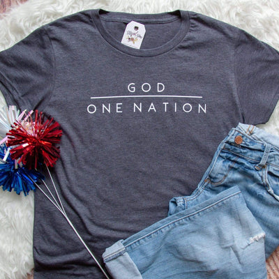 One Nation Under God Classic Short Sleeve Shirt (Women's Fit)